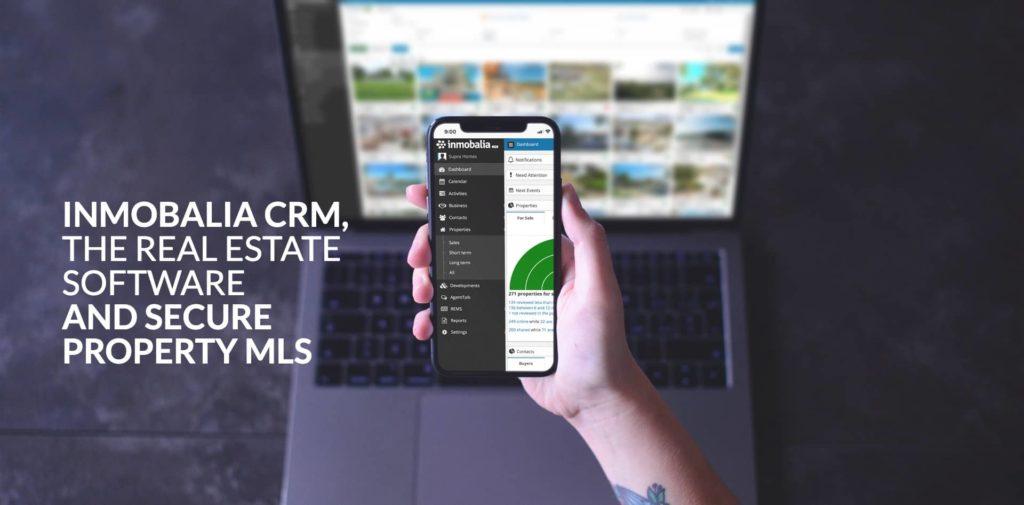 Inmobalia CRM Real Estate software on mobile and desktop